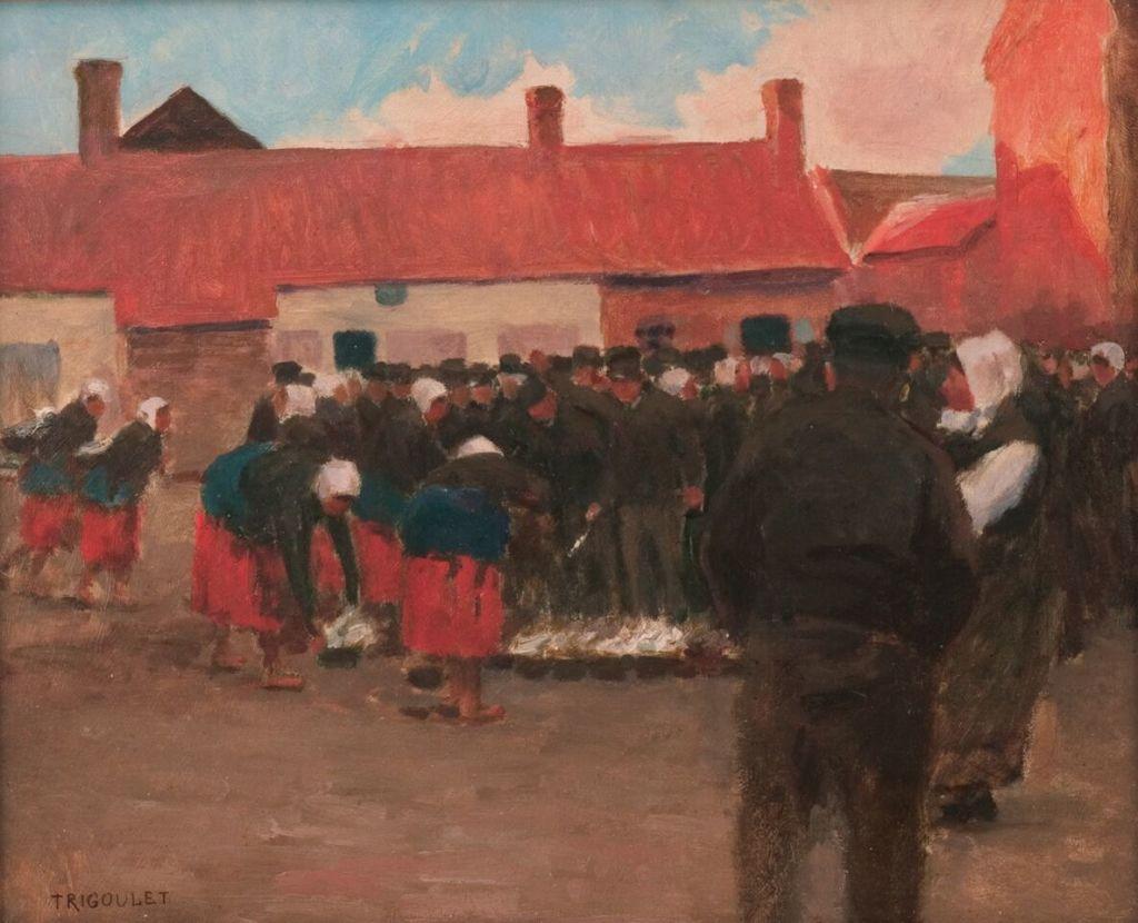 Eugène Trigoulet, Marché à Berck-Ville
