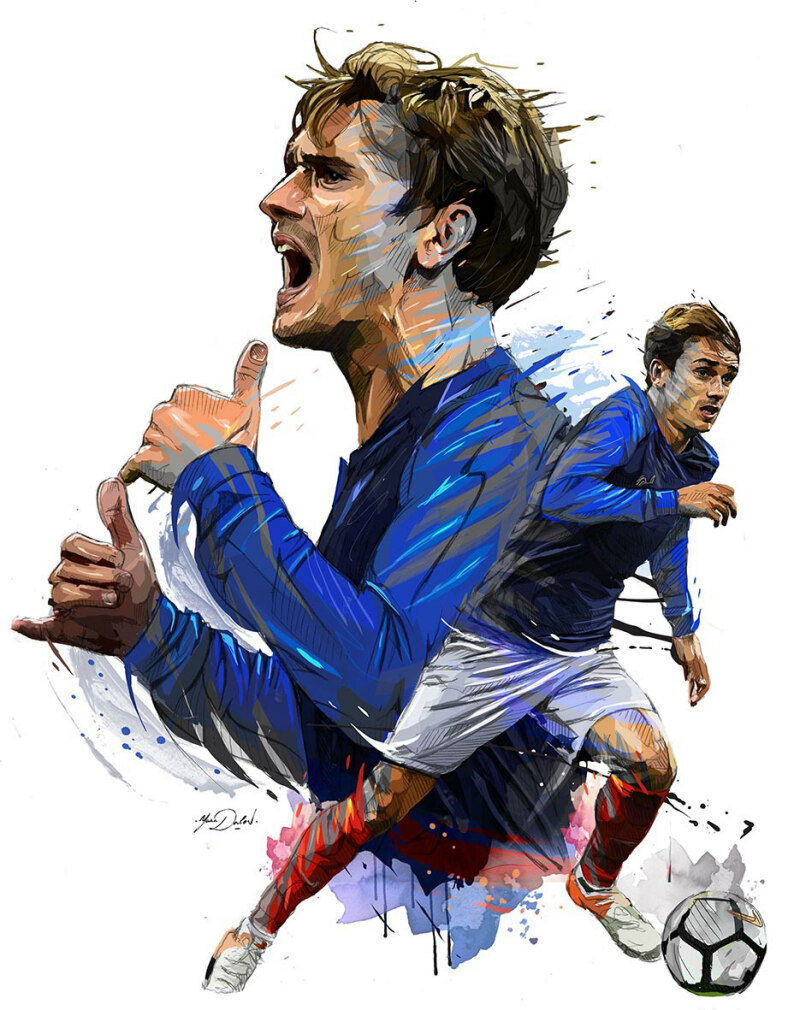 France's forward Antoine Griezmann celebrates after he scored his team's third goal during the FIFA World Cup 2018 qualifying football match France vs Bulgaria on October 7, 2016  at the Stade de France stadium in Saint-Denis, north of Paris.   / AFP PHOTO / MIGUEL MEDINA
