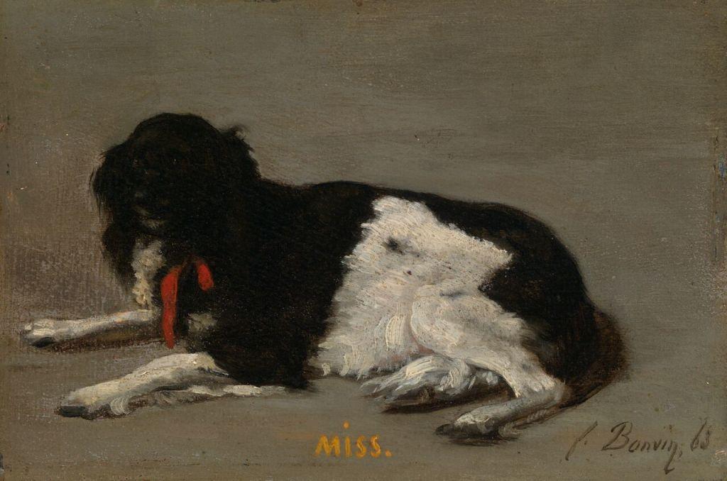 François Bonvin (1817 -1887) Miss, 1863