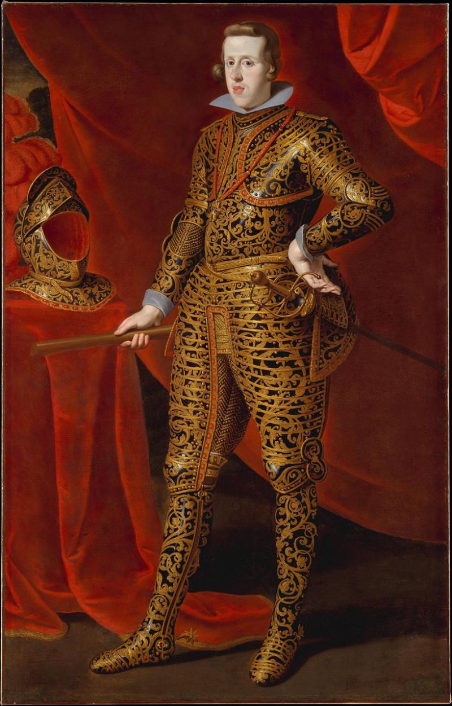 Gaspar de Crayer, Portrait de Philippe IV d'Espagne en armure de parade