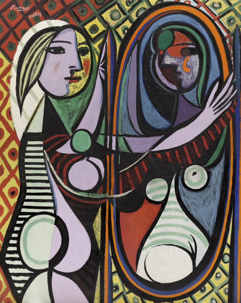 Picasso, Pablo (1881-1973): Girl Before a Mirror (Boisgeloup, March 1932). New York, Museum of Modern Art (MoMA)*** Permission for usage must be provided in writing from Scala.