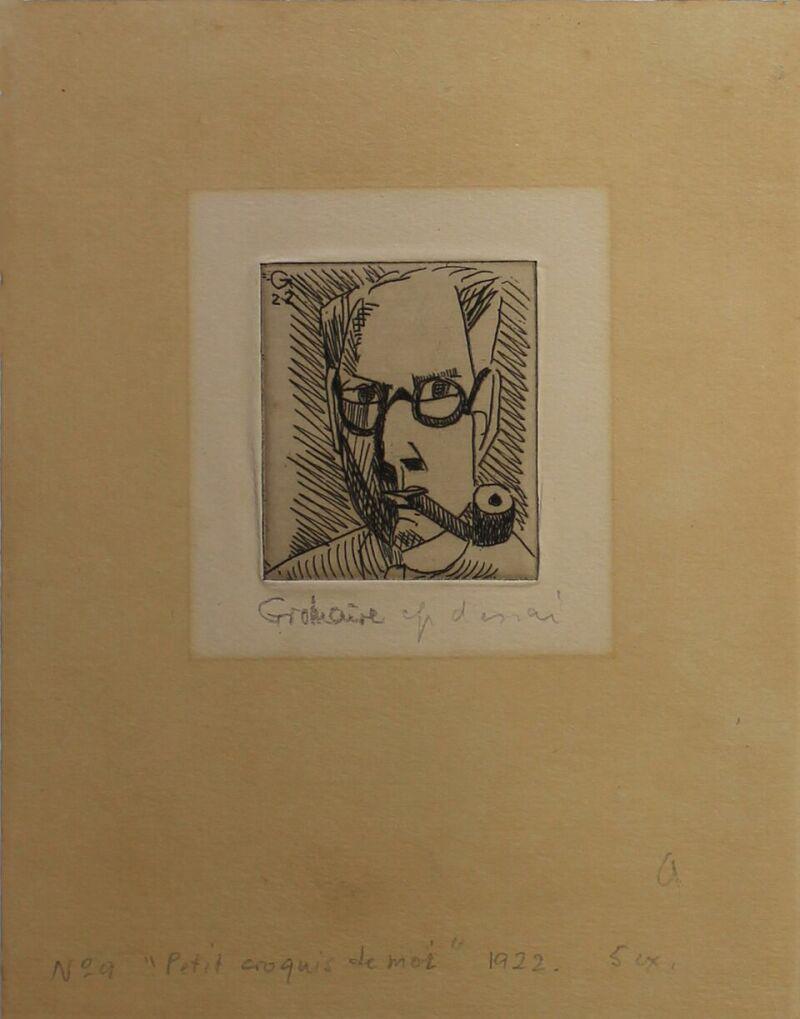 GROMAIRE Marcel, Petit croquis de moi, 1922