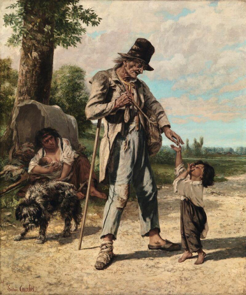 Gustave Courbet (1819 -1877)L'Aumôned'un mendiant à Ornans, 1868