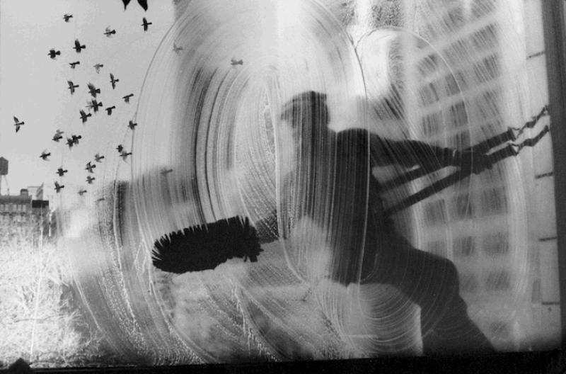 Harold Feinstein, Window Washer, 1974