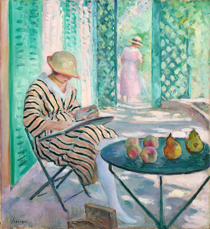Henri Lebasque, Nono à l'aquarelle, collection particulière, Courtesy galerie Pentcheff