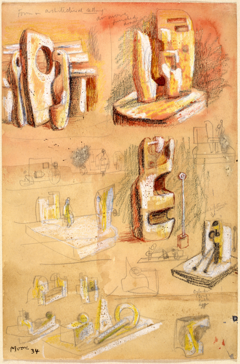 Henry Moore_Monoliths, 1934 © Henry Moore Foundation archive