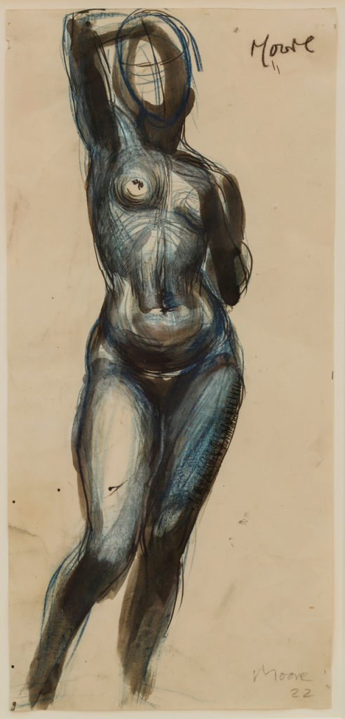 Henry Moore_Standing Nude Girl, One Arm Raised, 1922 © Henry Moore Foundation archive