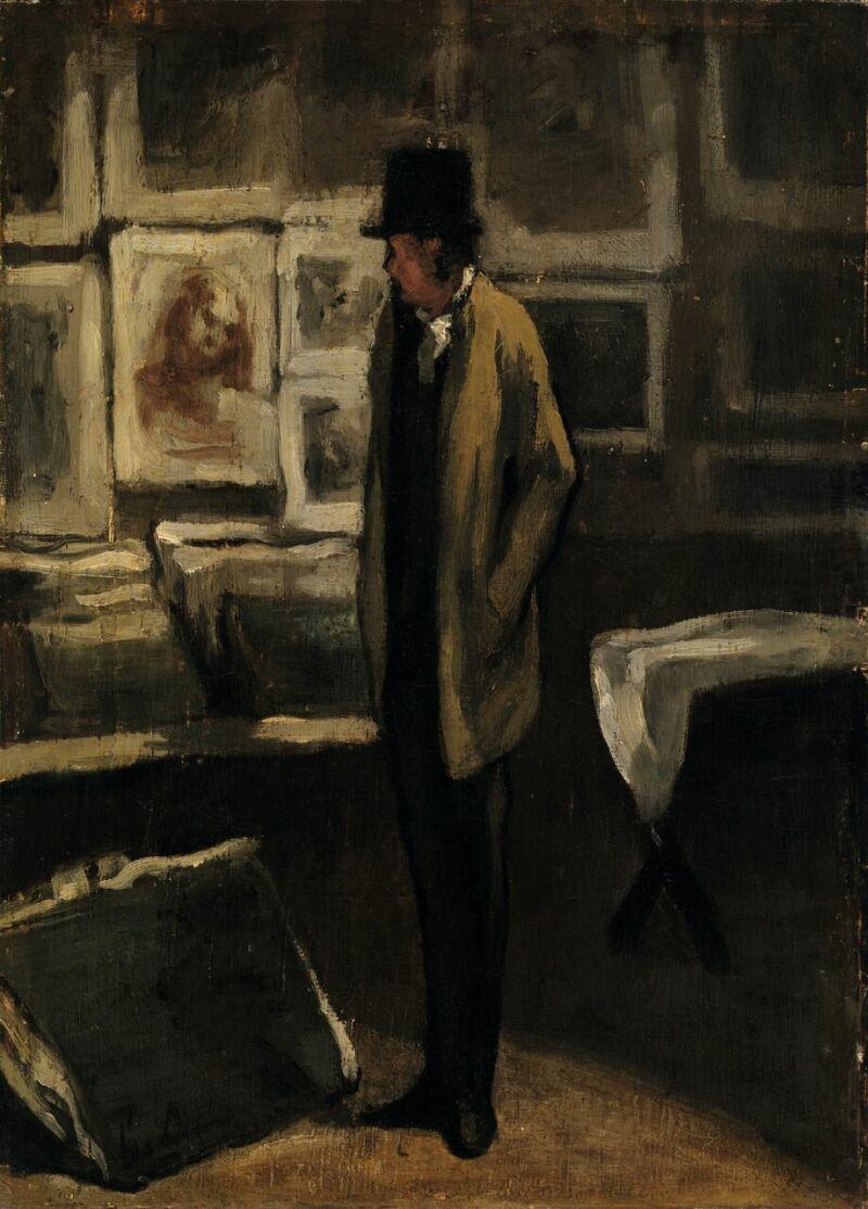 Honoré Daumier (1808 -1879)L'Amateur d'estampes, vers 1860-1863