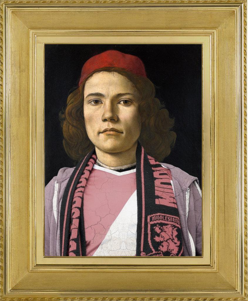 """Little bro' d'après """"Portrait de jeune homme"""" de Sandro Botticelli"""