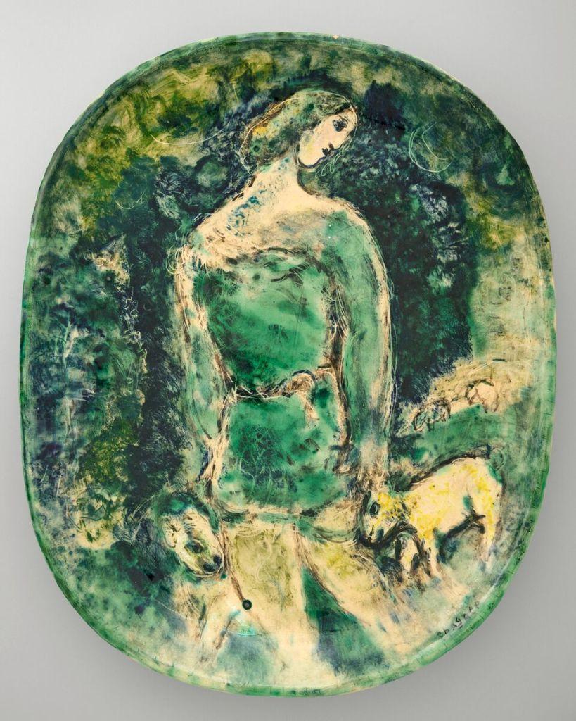 Marc Chagall, Joseph, berger Gouache préparatoire pour les gravures de la Bible (40 gouaches)