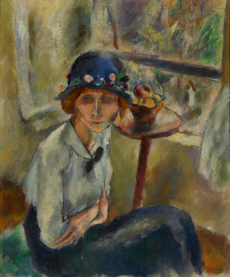 Jules Pascin, Portrait d'hermine David au chapeau à fleurs, 1916, collection particulière – droits réservés