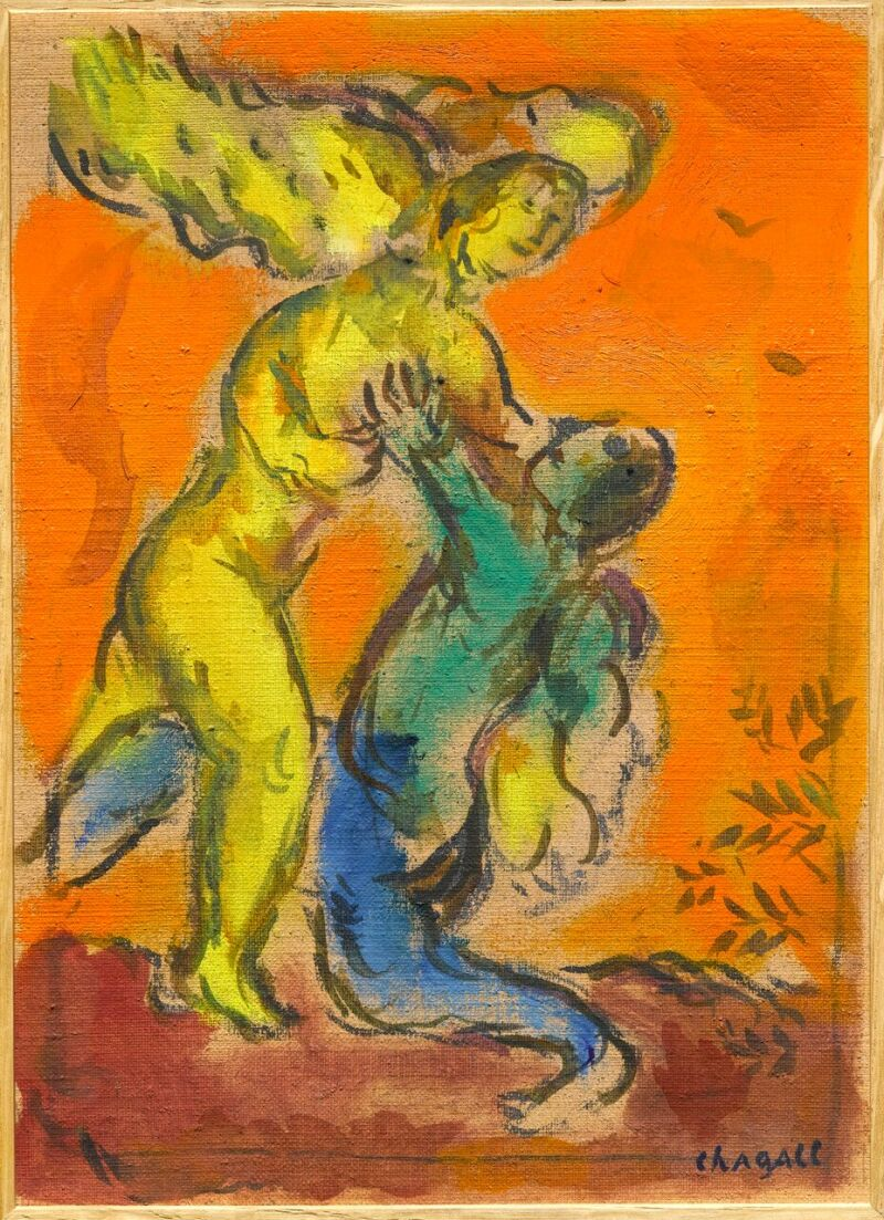 Marc Chagall, La Lutte de Jacob et de L'Ange 1960-1966