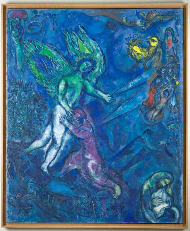 Marc Chagall, La Lutte de Jacob et de l'Ange (Genèse, XXXII, 25-29) [1960-1966]