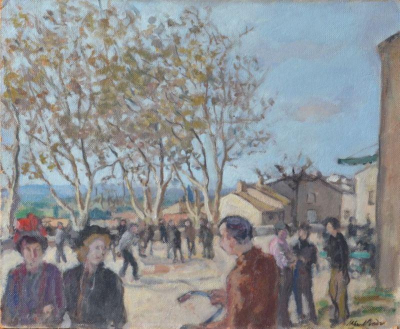 La place de Laudun le dimanche - Albert André