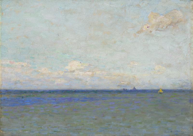 Le-Sidaner_-Henri_-Voiliers-sur-la-mer-dans-le-lointain_-1896-Coll