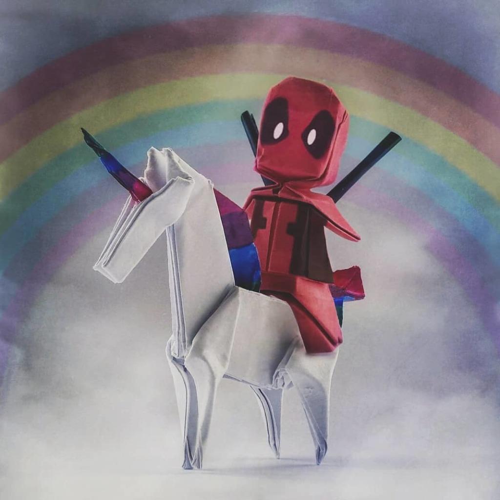 © Louise Cassidy - Deadpool on a unicorn