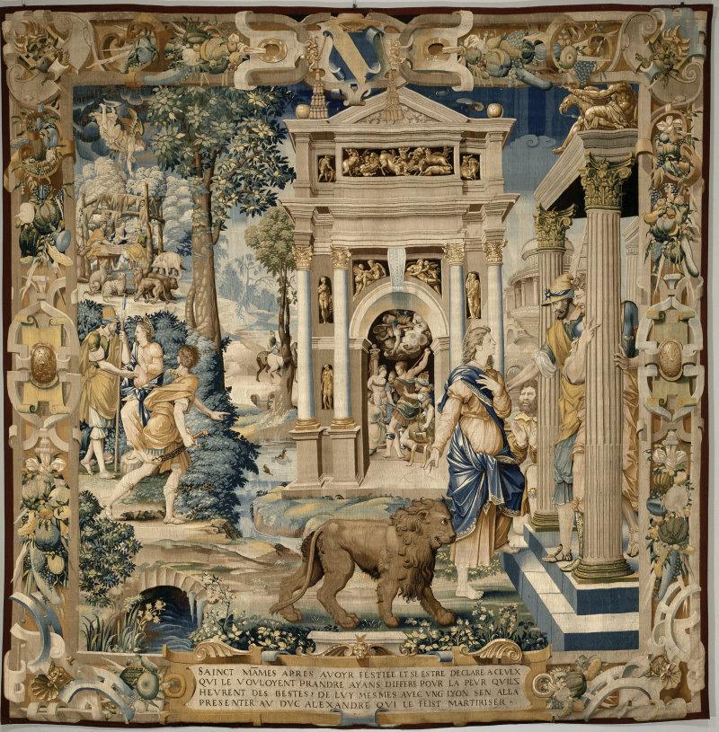 Mammès se rend au gouverneur Césarée, 1544-1545, laine et soie, prêt du musée du Louvre