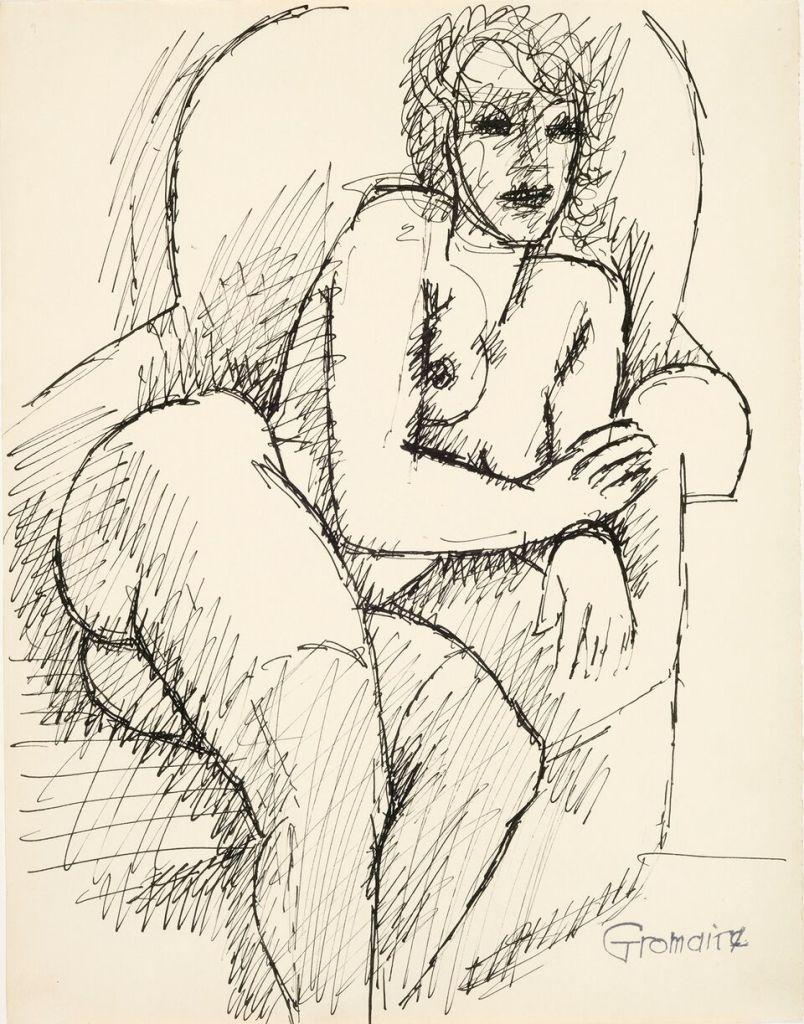 Marcel Gromaire, Nu assis dans un fauteuil, vers 1930