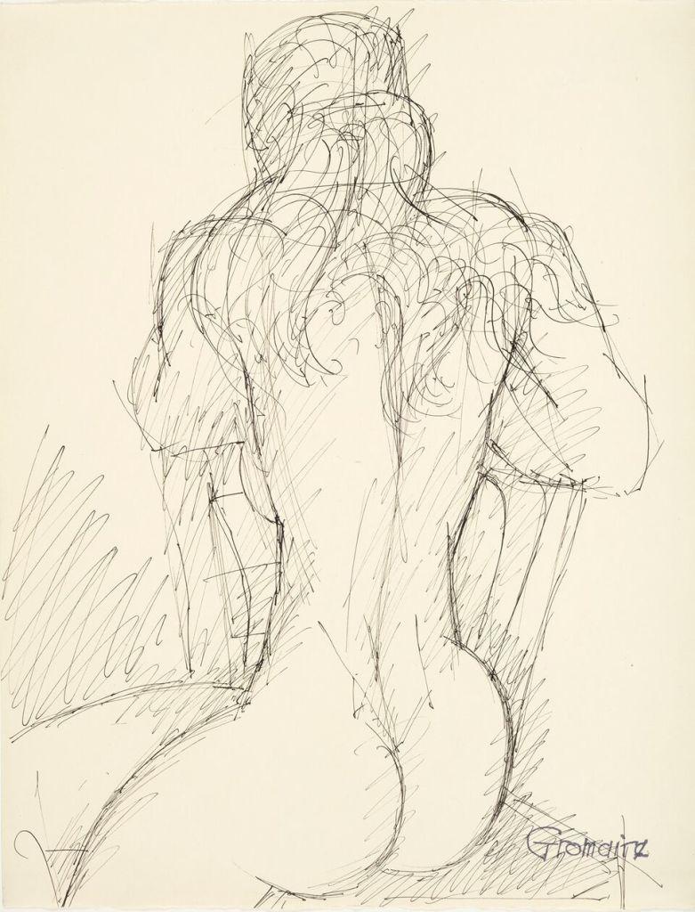 Marcel Gromaire, Nu de dos, vers 1950
