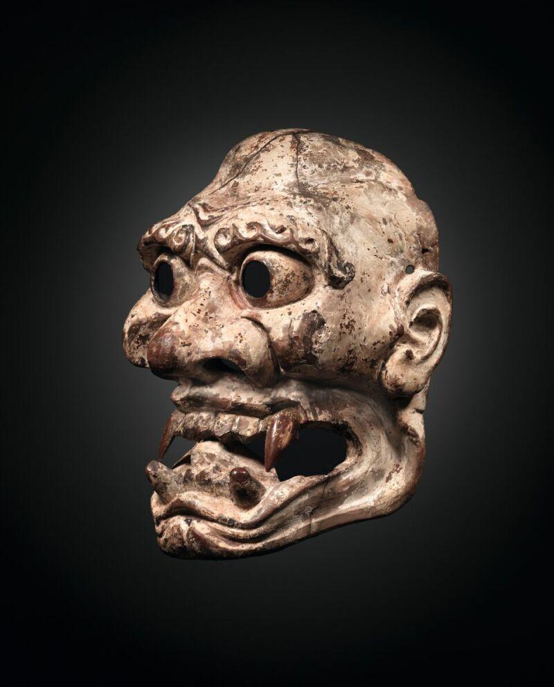 Masque tsuina de Kijin ©Institut Lussato-Fédier-Musée de la Castre Cannes