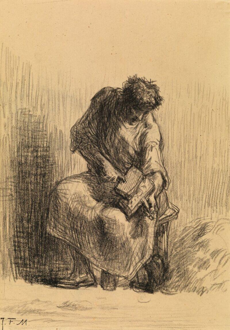 Millet, Jean-François (1814 -1875)Le Cardeurde laine, vers 1846-1848