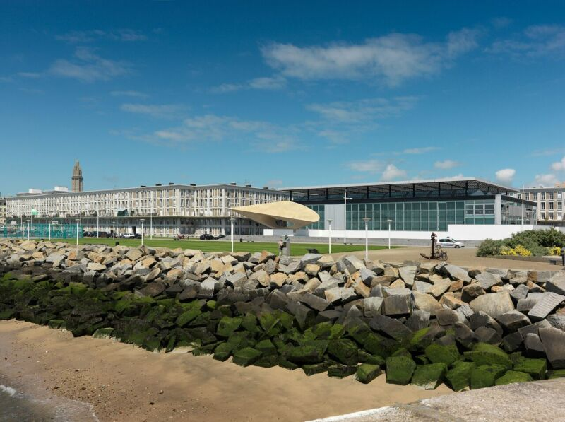 MuMa, vue d'ensemble, façades sud-ouest. © MuMa Le Havre Florian Kleinefenn