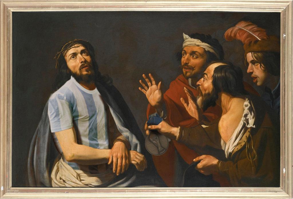 """Messie d'après""""La dérision du Christ"""" de Mathias Stom"""