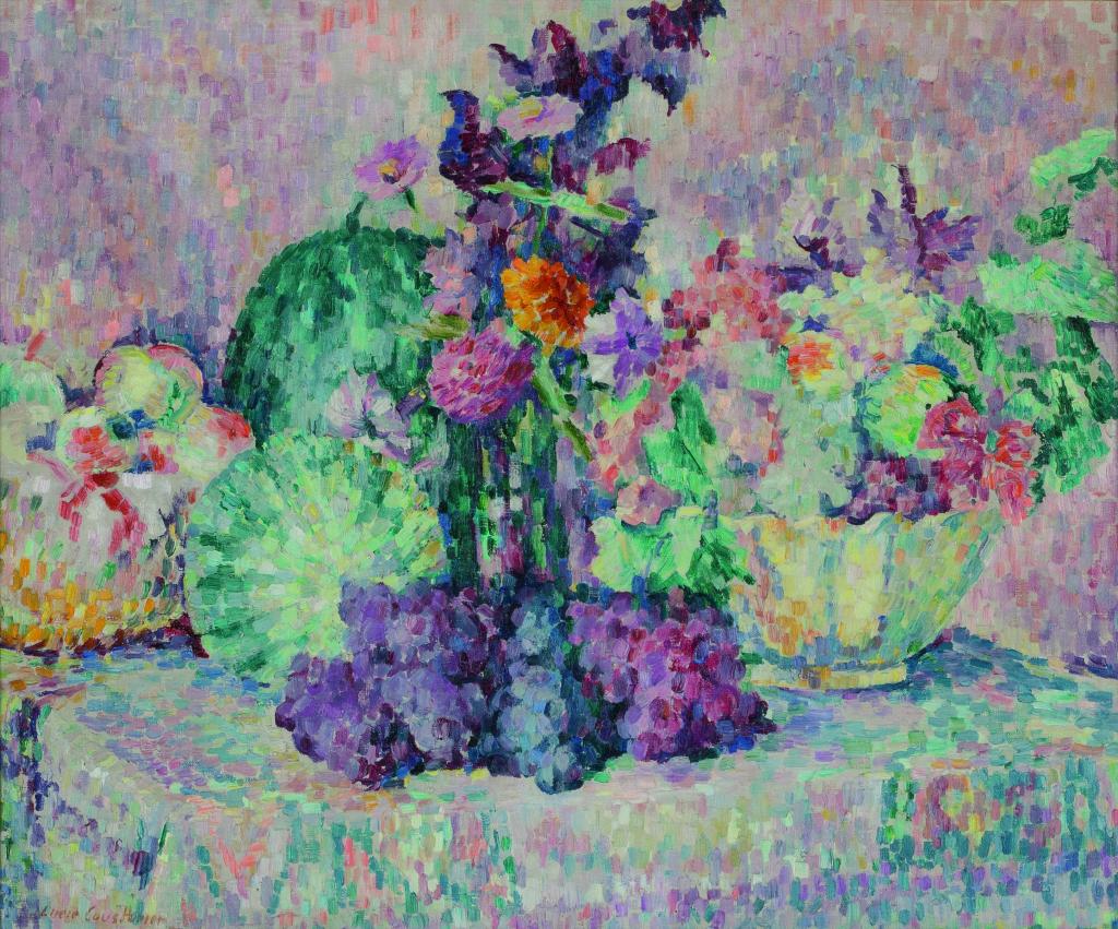 Lucie Cousturier , Nature morte aux pastèques - Huile sur toile Collection particulière