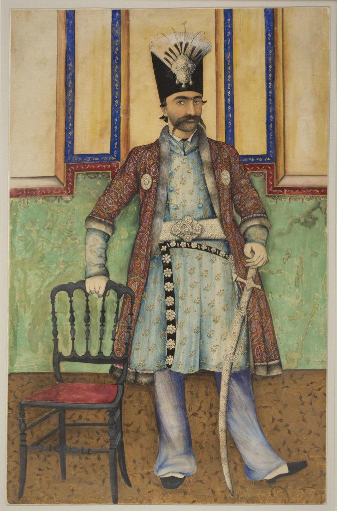 Portrait de Nâsir al-Dîn Shâh