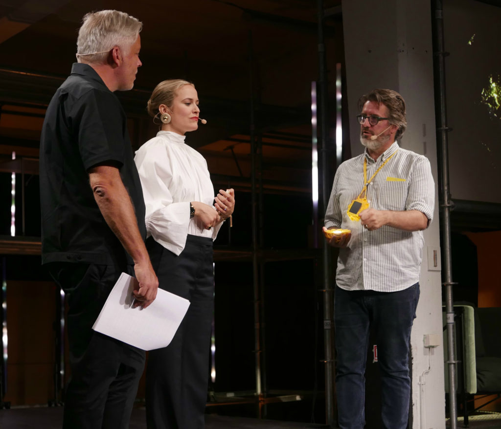 Olafur Eliasson at the launch of the Little Sun and Ikea partnership on June 8 in Sweden. Image courtesy Little Sun.