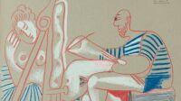 Pablo Picasso Le peintre et son modèle (ensemble de 8 dessins), 4 juillet 1970