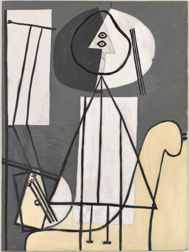 Pablo Picasso Peintre à la palette et au chevalet, 1928