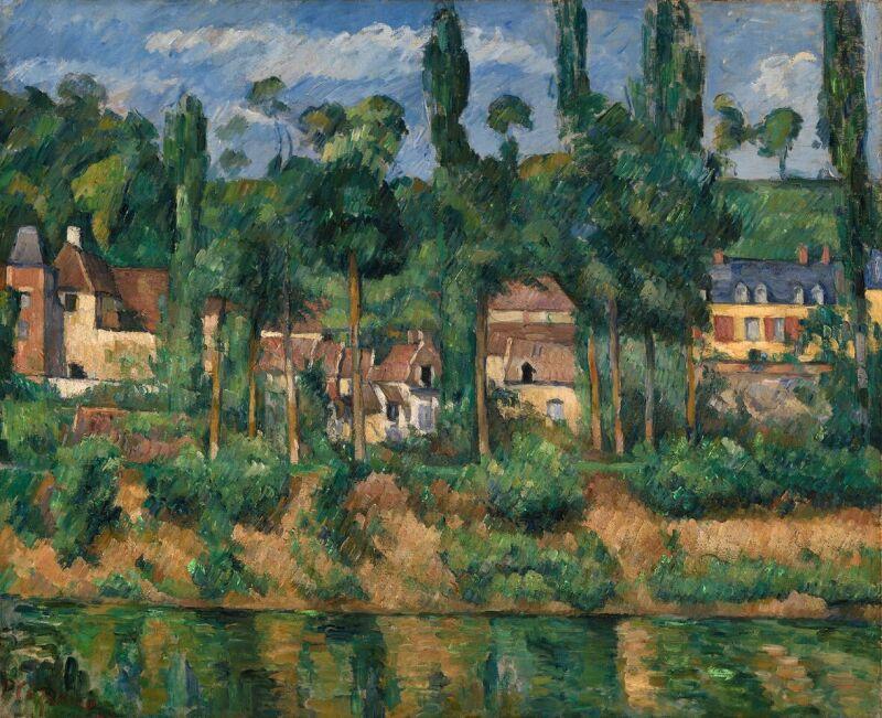Paul Cézanne (1839 -1906) Le Château de Zola à Médan, vers 1879-1880