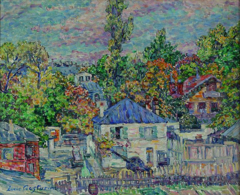 Lucie Cousturier, Paysage aux maisons
