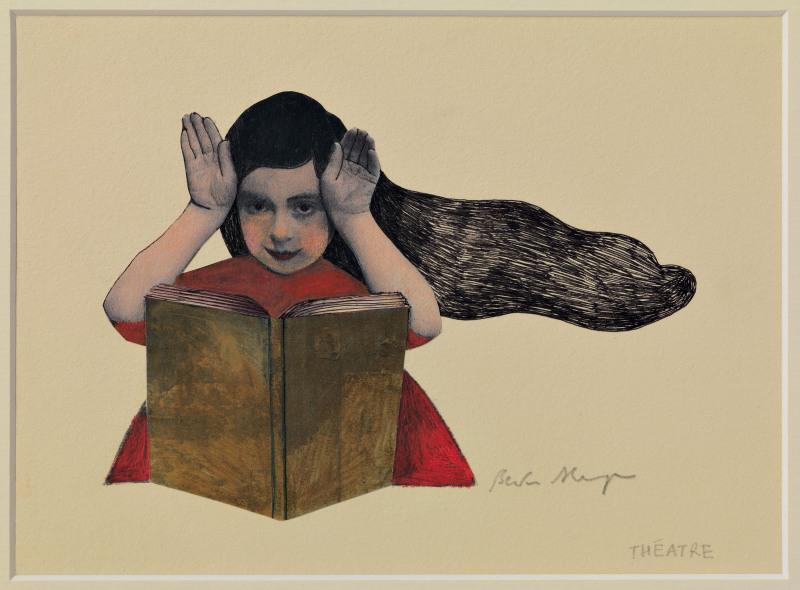 petite fille au livre