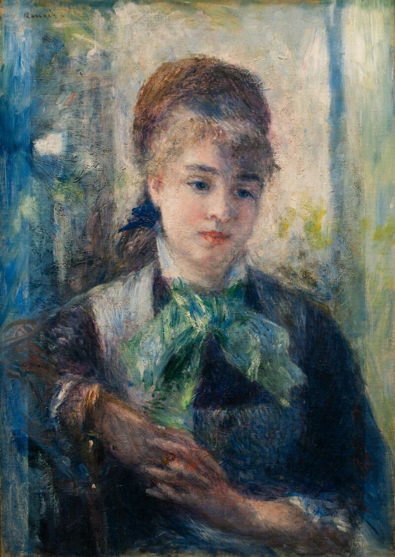 Pierre-Auguste RENOIR, Portrait de Nini Lopez, 1876 © MuMa Le Havre David Fogel