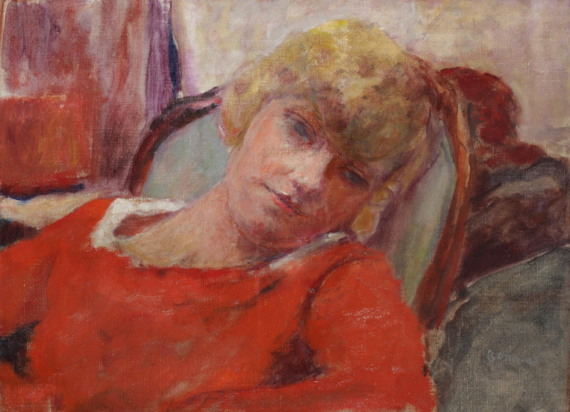 Pierre Bonnard,Le repos, Renée Monchaty, collection Winter, © photo Thiery Jacob