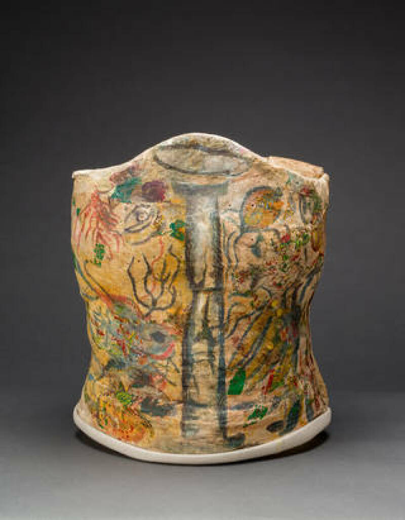 Plaster corset, painted and decorated by Frida Kahlo, Museo Frida Kahlo