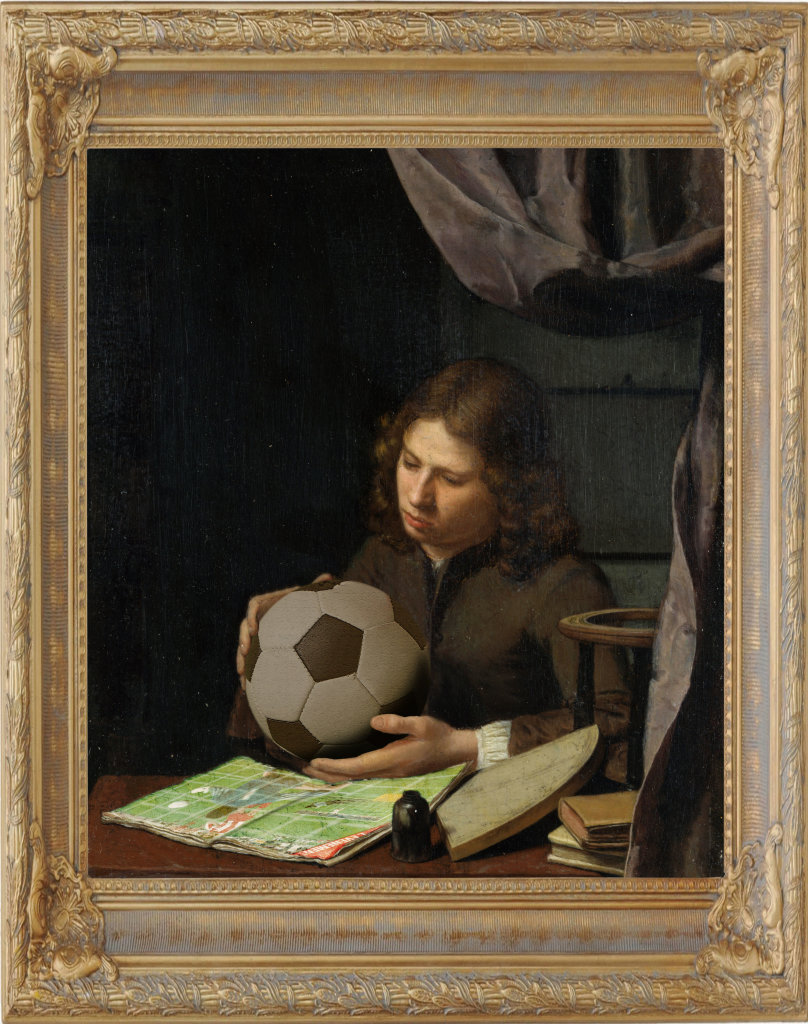 """Souvenirs d'après""""Jeune astronome en 1685"""" de Olivier Van Deuren"""