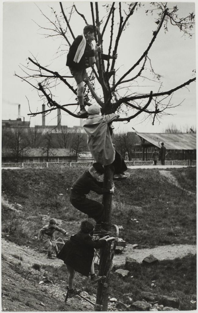 Sabine Weiss, Enfants dans un terrain vague, Porte de Saint-Cloud, Paris, France, 1950
