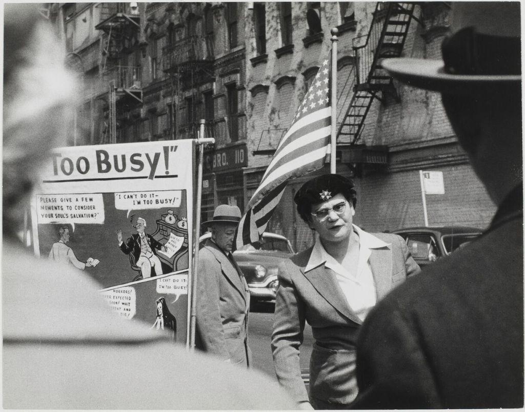 Sabine Weiss, Manifestation, New York, Etats-Unis, 1955