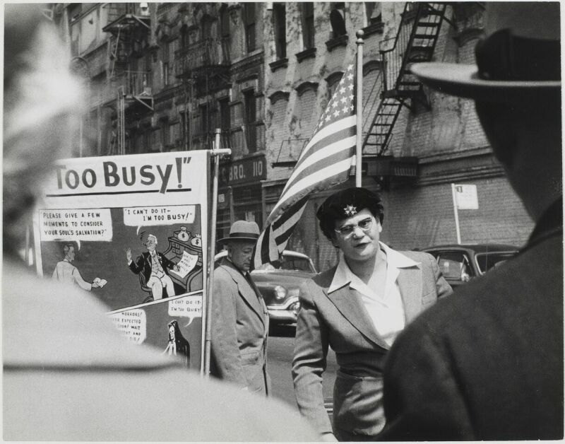 Sabine Weiss, Manifestation, New York, Etats-Unis, 1955