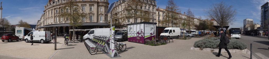 Station à vélo en libre service-Valence