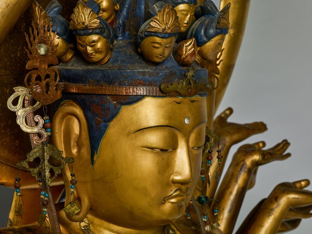 Statue de Kannon (détail) (Japon - époque Edo 1603-1868)