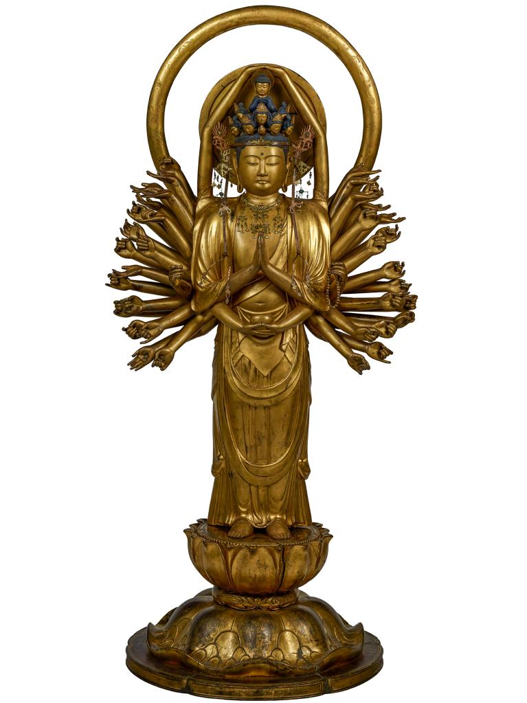 Statue de Kannon (Japon - époque Edo 1603-1868)