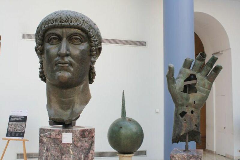 Statue de l'Empereur Constantin, conservés au musée du Capitole à Rome © Ancient History Encyclopedia