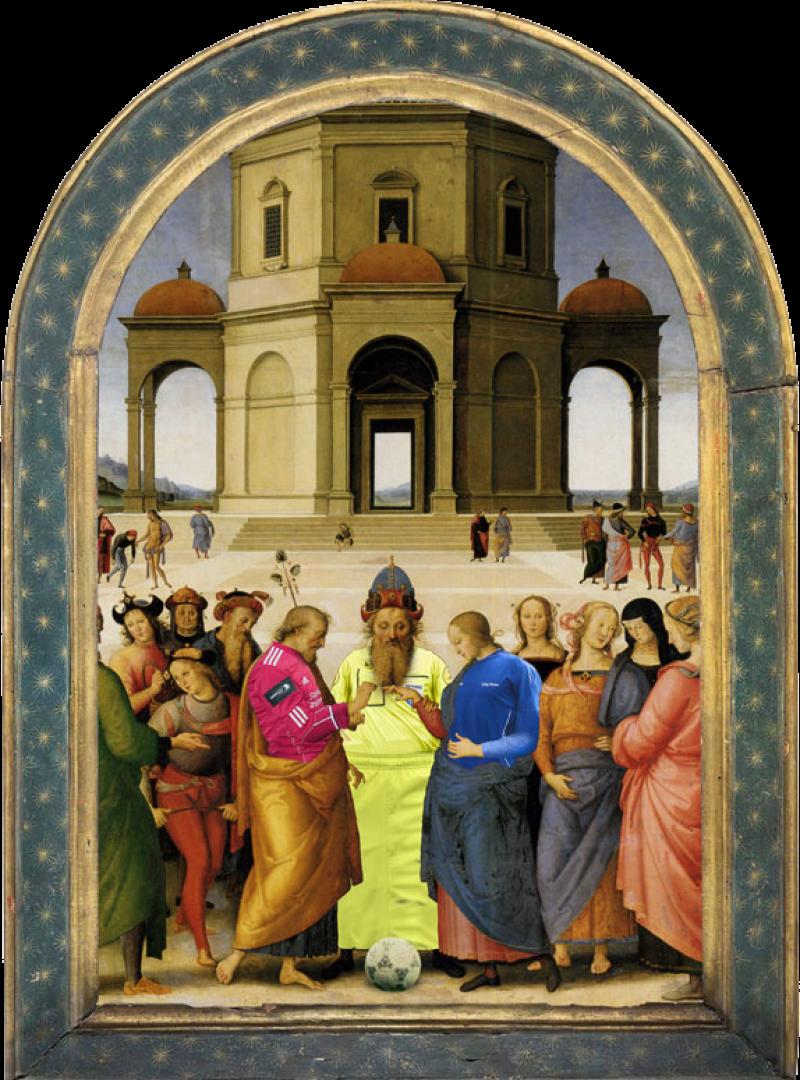 """Le Toss d'après """"Le mariage de la Vierge"""" de Titien"""