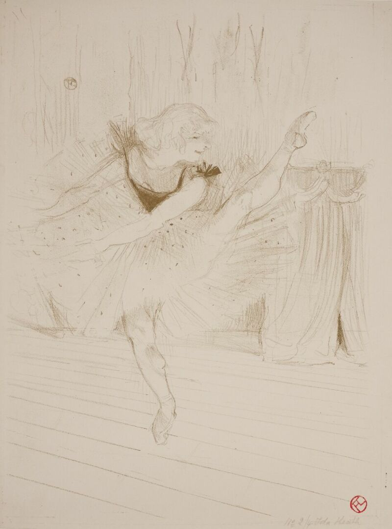 Toulouse Lautrec, Miss Idea Heath danseuse anglaise (c) Musée de Valence, photo Béatrice Roussel