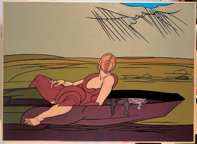 Valerio Adami, L'incantesimo del lago, 1984