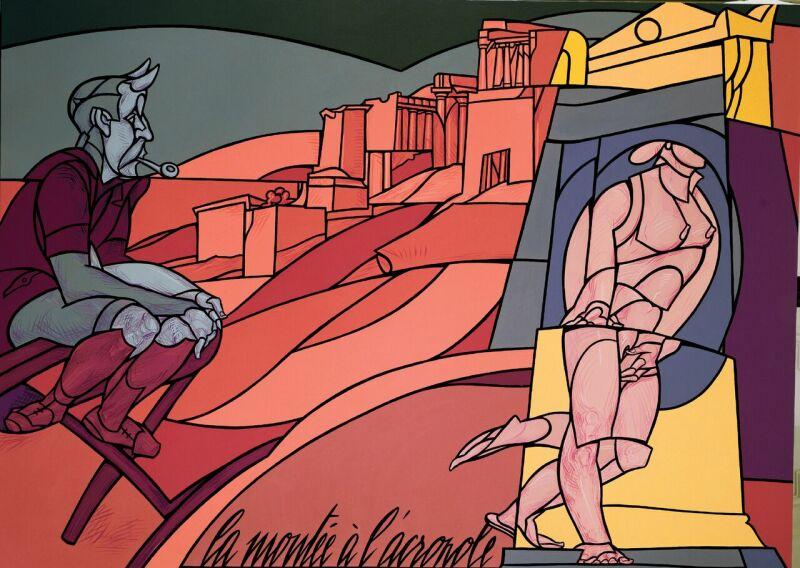 Valerio Adami, La Montée à l'Acropole, 1995